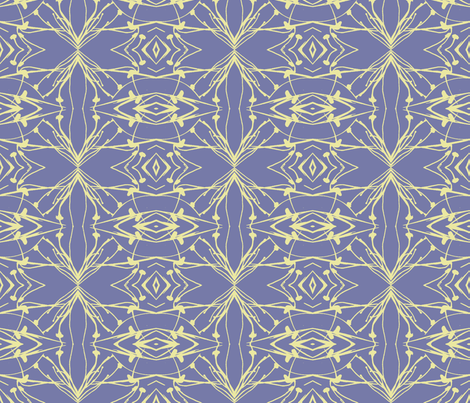 Hawkweed (Yellow on Blue-violet) fabric by belovedsycamore on Spoonflower - custom fabric