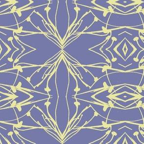 Hawkweed (Yellow on Blue-violet)