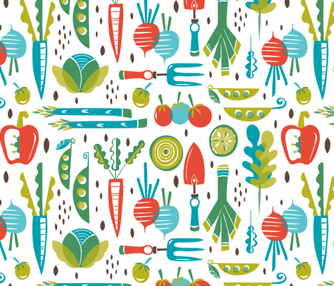 How Does Your Garden Grow fabric by heatherdutton on Spoonflower - custom fabric