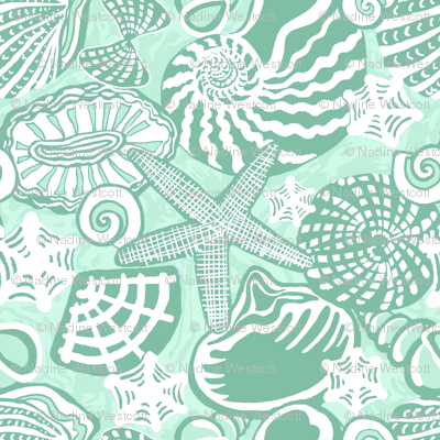 SEASHELLS mint green