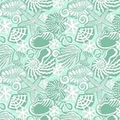 SEASHELLS mint green