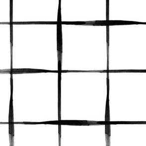 Black Watercolor Grid