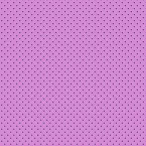 Purple polka dots on pink