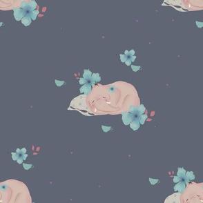 pink dreaming elephants