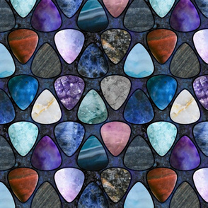 Rockin' Rocks - Galaxy Guitar picks large