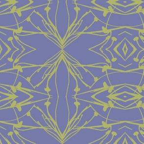 Hawkweed (Green on Blue-violet)