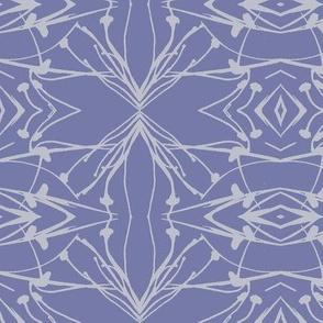 Hawkweed (Gray on Blue-violet)