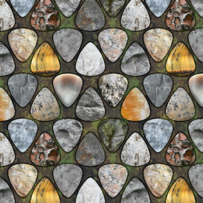 Rockin' Rocks - Fossil Guitar picks large