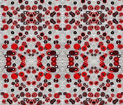 Lady Lady Bug fabric by diegolandia on Spoonflower - custom fabric
