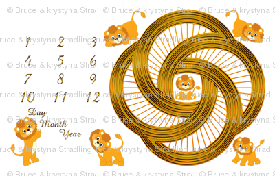 Little Lions Growth Blanket 56x36