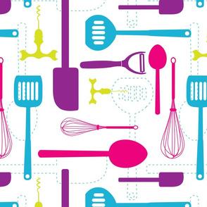 Kitchen Utensils in Multicolour