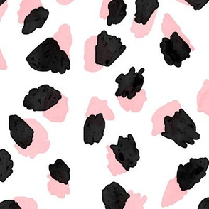 Abstract Pink Leopard Large
