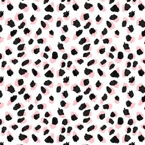 Abstract Pink Leopard Small