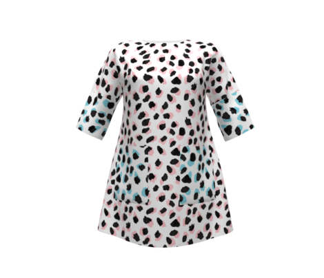 Abstract Turquoise Leopard Large