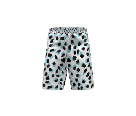 Abstract Turquoise Leopard Small