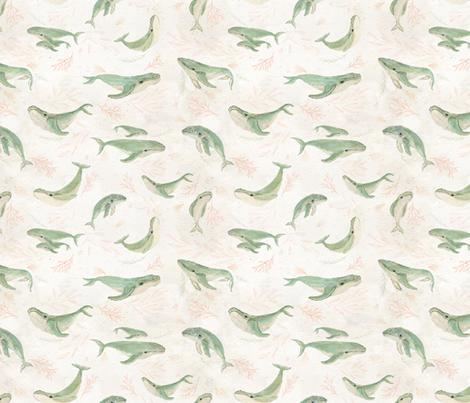 Humpback pod {small} fabric by katherine_quinn on Spoonflower - custom fabric