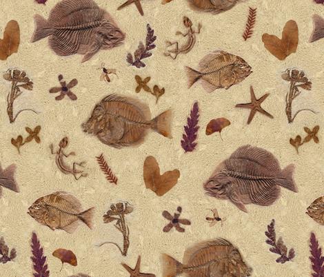 fossili fabric by gaiamarfurt on Spoonflower - custom fabric