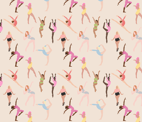 Dancing Girls fabric by how-store on Spoonflower - custom fabric