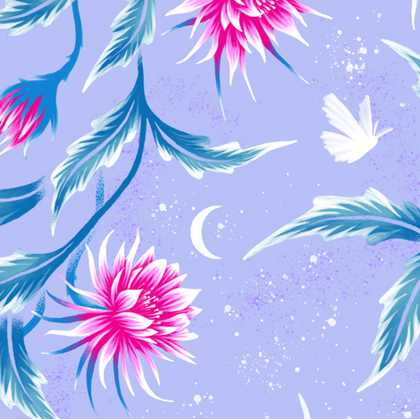 Queen of the Night - Mauve / Pink - Andrea Muller fabric by andreaalice on Spoonflower - custom fabric