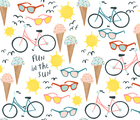Fun in the Sun fabric by shoshannahscribbles on Spoonflower - custom fabric