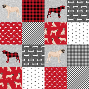 english mastiff pet quilt a floral quilt collection wholecloth cheater