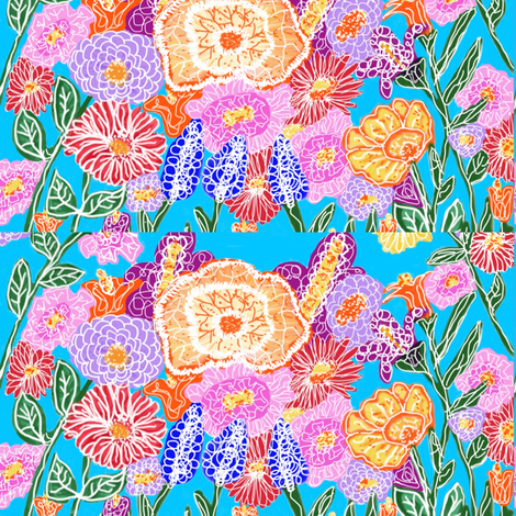 Flower Power Blocks fabric by fabric_is_my_name on Spoonflower - custom fabric