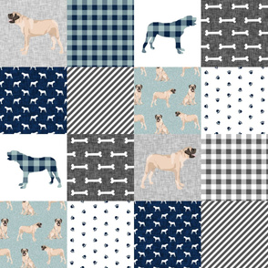 english mastiff pet quilt b floral quilt collection wholecloth cheater