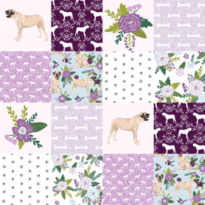english mastiff pet quilt c floral quilt collection wholecloth cheater