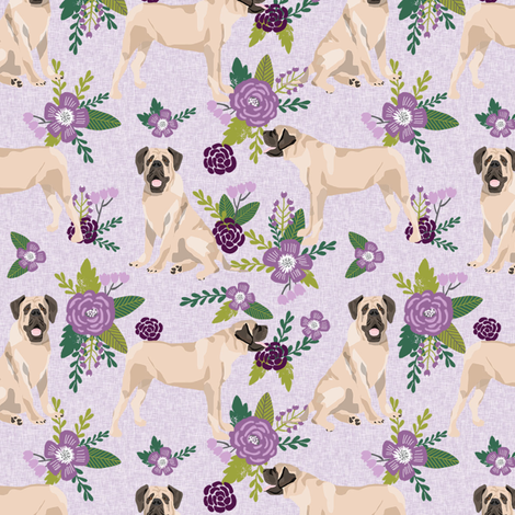 english mastiff pet quilt c floral quilt collection coordinate fabric by petfriendly on Spoonflower - custom fabric