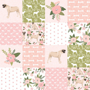english mastiff pet quilt d floral quilt collection wholecloth cheater