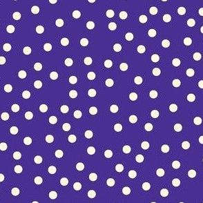 Twinkling Creamy Dots on Blueberry - Large Scale