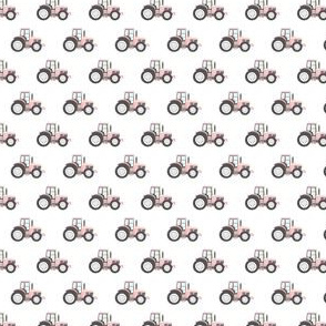 (MICRO SCALE) light pink tractor - farm fabric C18BS
