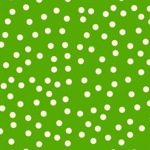 Twinkling Creamy Dots on Green Apple - Large Scale