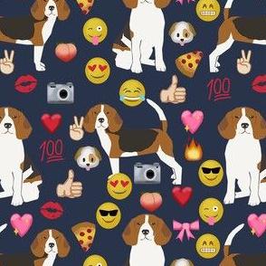 beagle emoji cute funny dog breed fabric