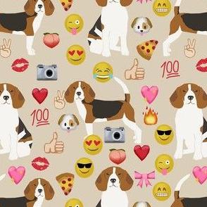 beagle emoji cute funny dog breed fabric tan