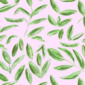 Vintage tea leaves || watercolor nature pattern