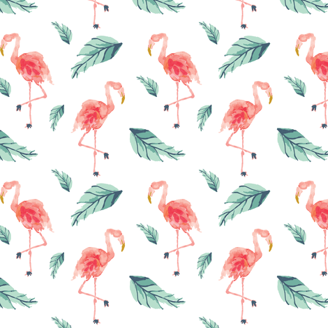 IBD Flamingo PLAM B fabric by indybloomdesign on Spoonflower - custom fabric