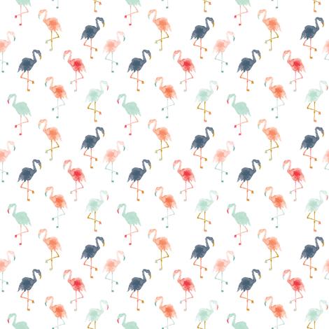 IBD Flamingos A fabric by indybloomdesign on Spoonflower - custom fabric