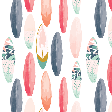 IBD Surfer girl B fabric by indybloomdesign on Spoonflower - custom fabric