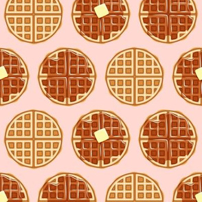 waffles - pink