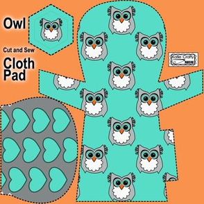 Owl cloth pad