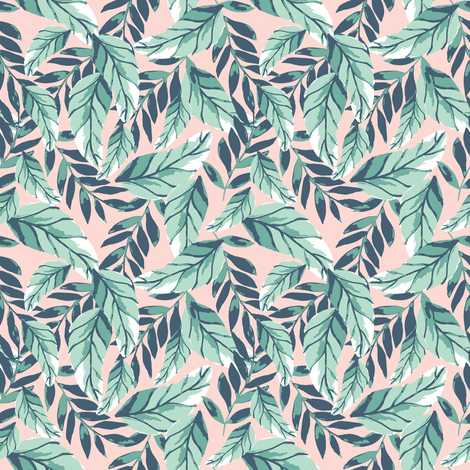 IBD Floral tropic foilage A fabric by indybloomdesign on Spoonflower - custom fabric