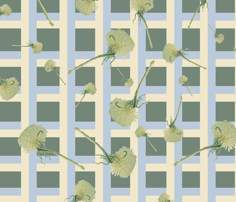 Time to Weed the Dandelions fabric by betz on Spoonflower - custom fabric
