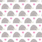 Hedgehog Love - White Background