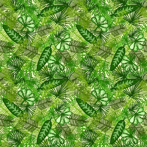 Jungle Leaf Print