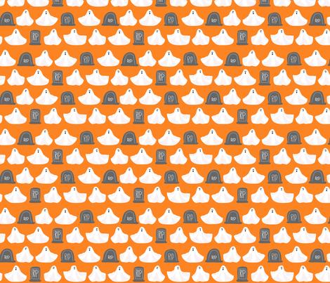 Halloween Ghosties fabric by lauriewisbrun on Spoonflower - custom fabric
