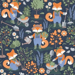 The foxy gardener // orange foxes