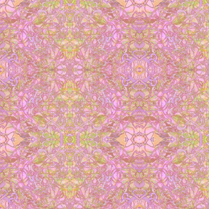 Kaleid Nouveau Pink Fretwork Smaller