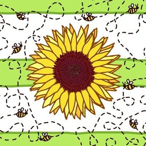 Bees-ey Sunflowers