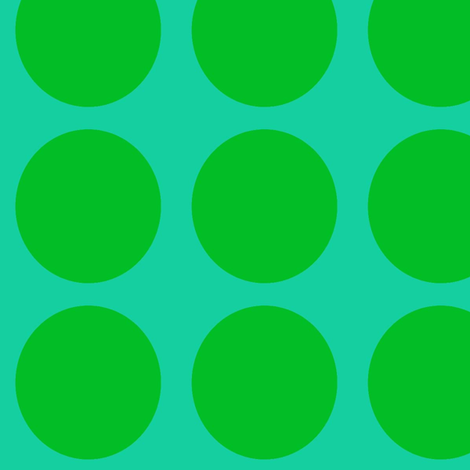 Green Dots on Greenish Blue Large - Spring Dots fabric by pumpkintreelane on Spoonflower - custom fabric
